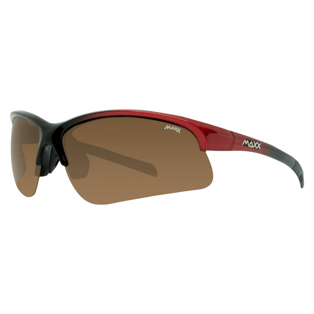Domain Brown Polarized Lens - Black-Red Frame