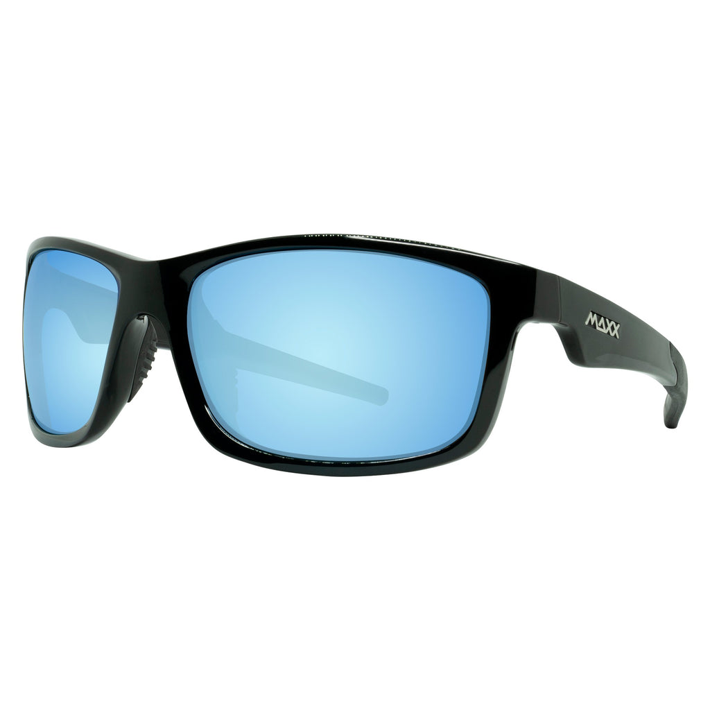 Retro 2.0 Polarized Mirrored Smoke Lens - Black Frame