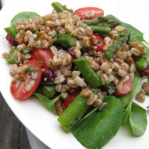 farro salad recipe, healthy salad for 4th of July, vegan