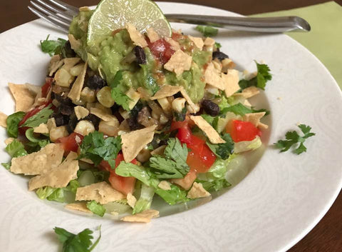 Vegan Taco Salad, meatless, vegan eating, clean foods, clean eating, vegetarian