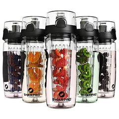 water bottle, sharpro Fruit infusion water bottle, how to drink more water