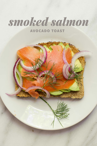 Smoked salmon, red onion, avocado toast, wholefully, healthy living, clean eating