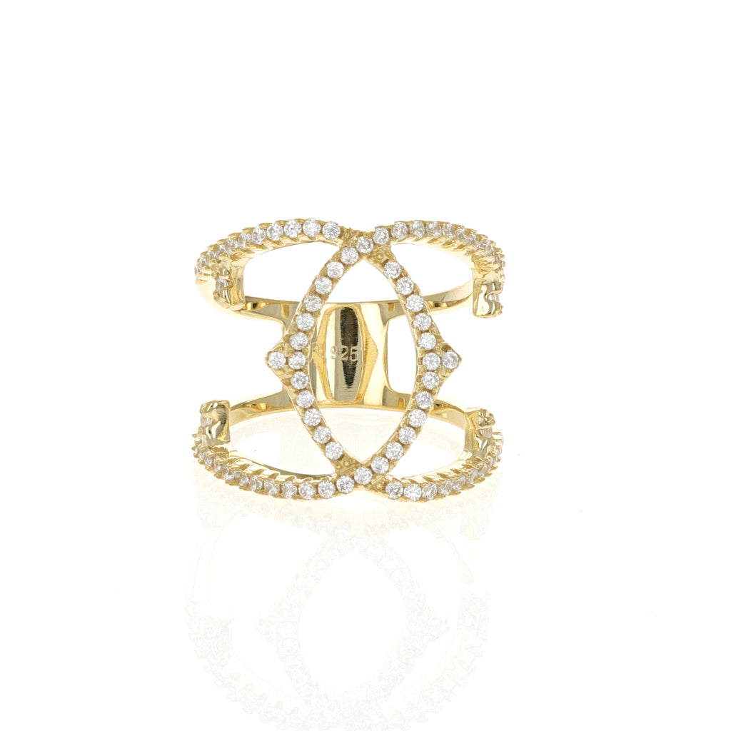 Gold Vintage Criss-Cross Ring