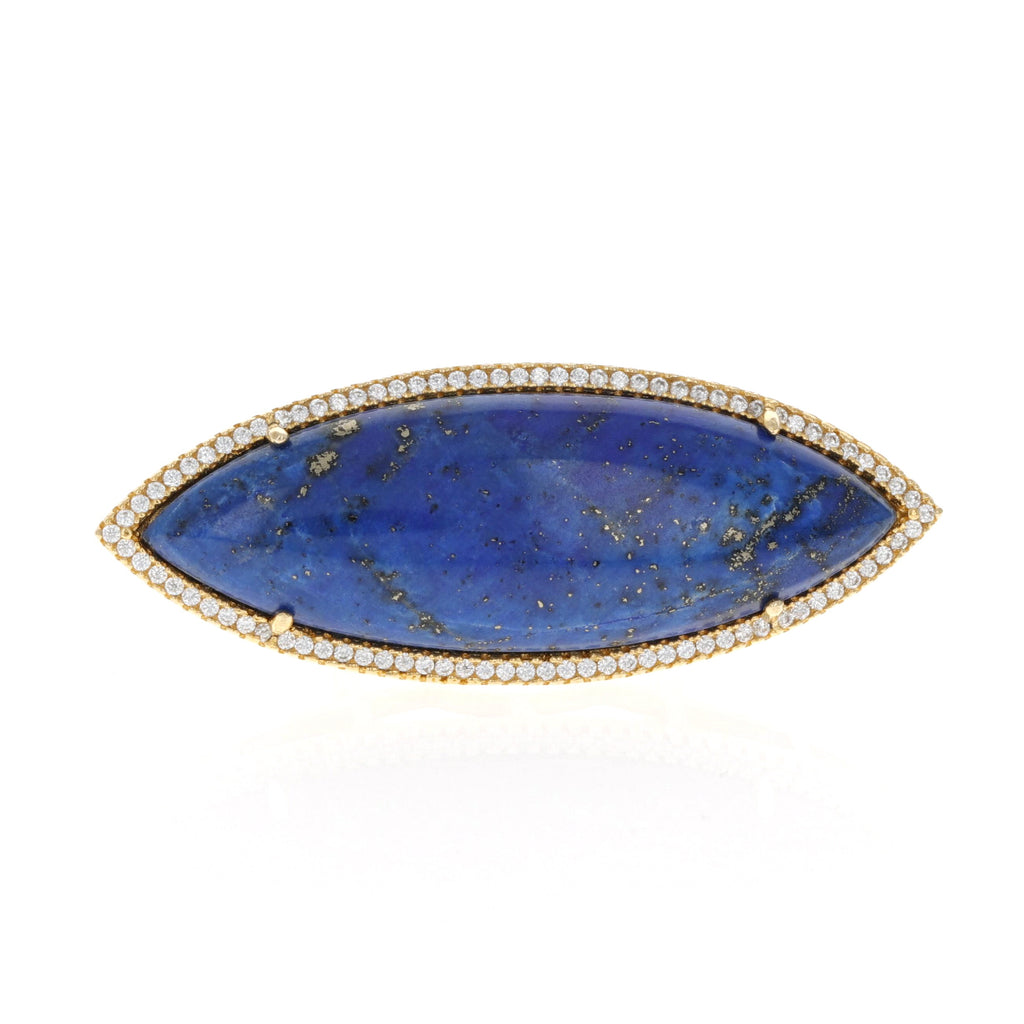 Blue Lapis East West Ring