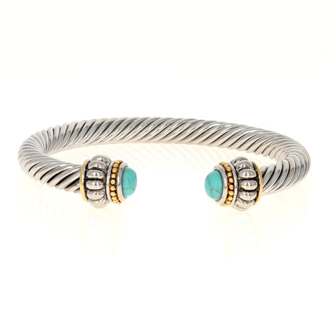 Brooke Turquoise Cable Bracelet