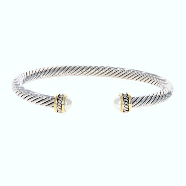 Brynn Pearl Cable Bracelet
