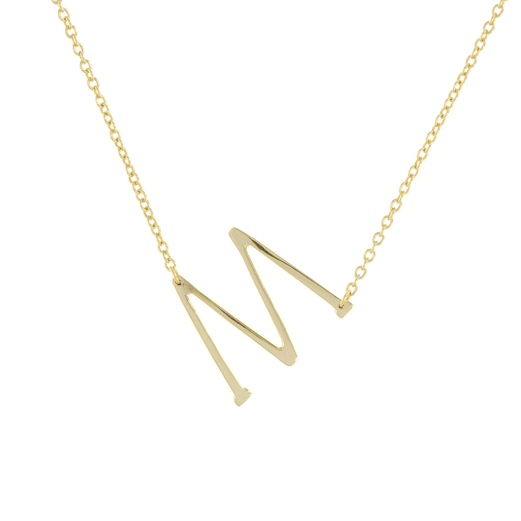 Letter M Necklace
