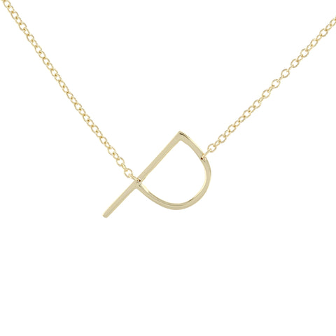 Letter P Necklace