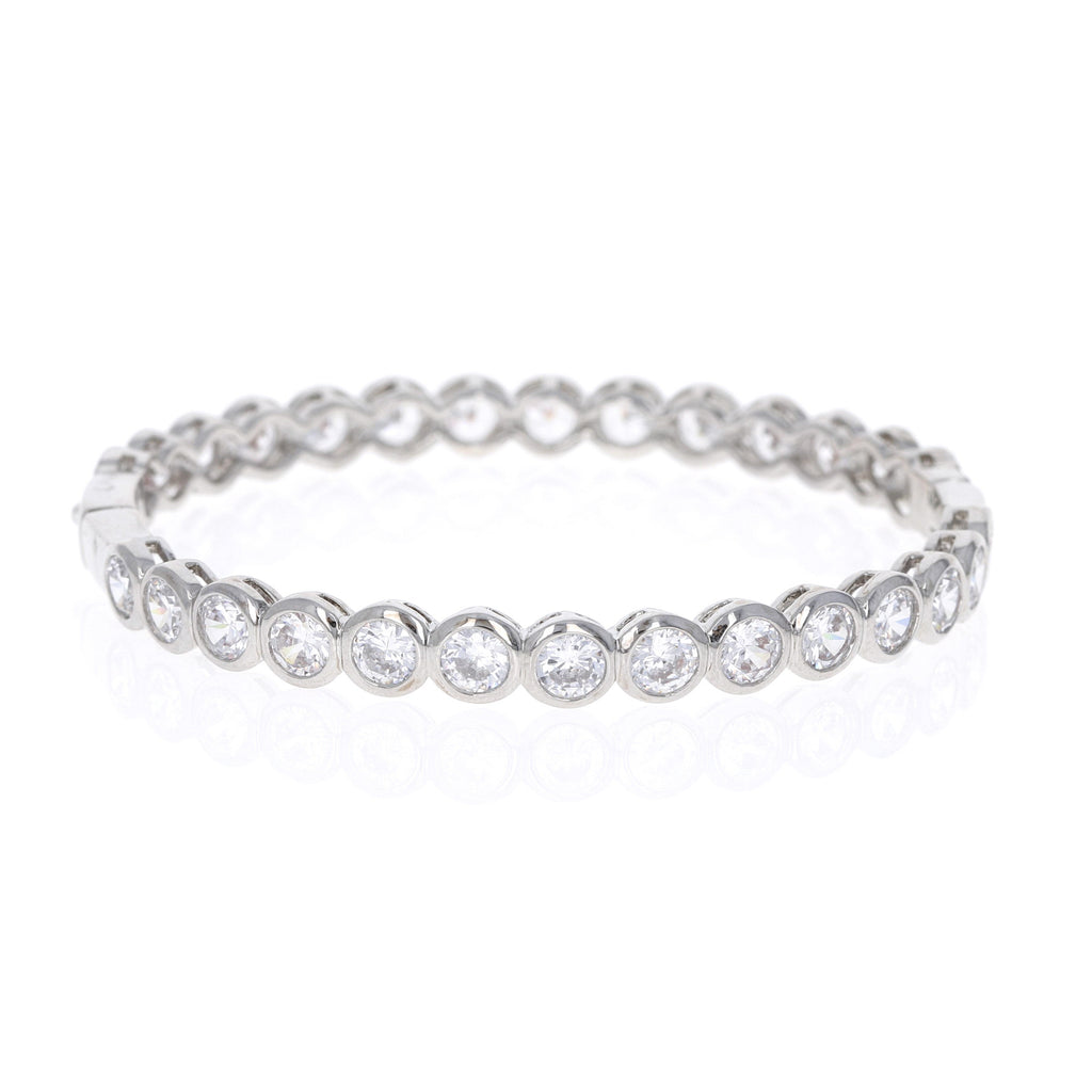 Full Bezel Set Cz Bangle