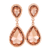 Blush Teardrop Earrings