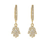 Hamsa Gold Charm Earrings