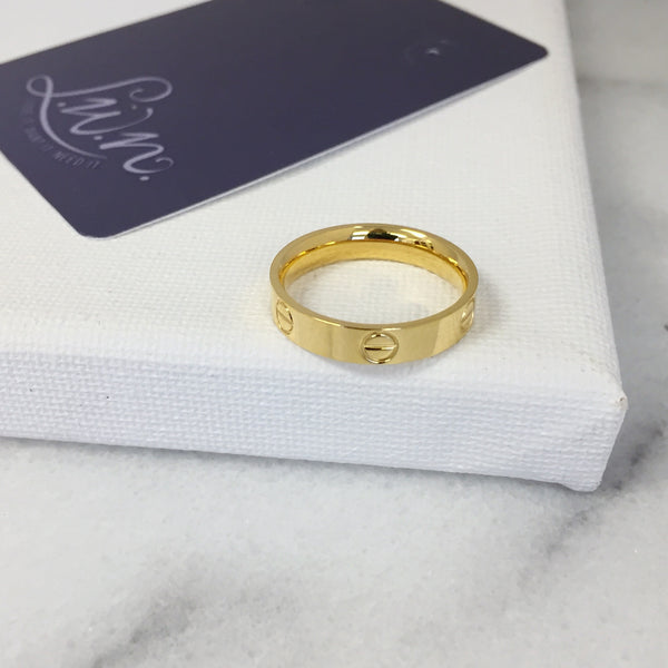 Adore Golden Stacking Ring