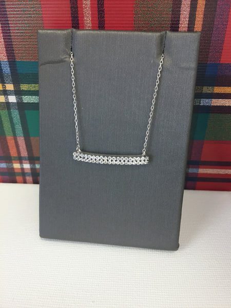 Double Row Bar Necklace