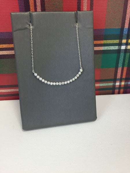 Beaded Curved Bar Necklace