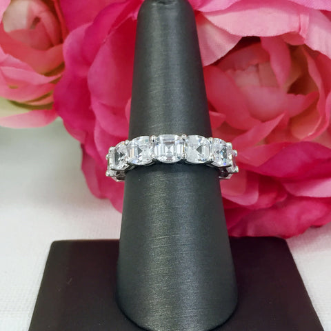 Asscher Eternity Ring