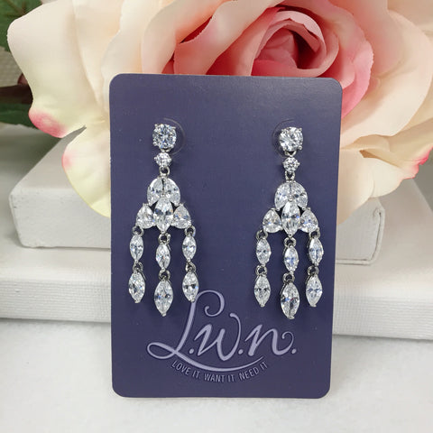 Dancing Marquise Chandelier Earrings