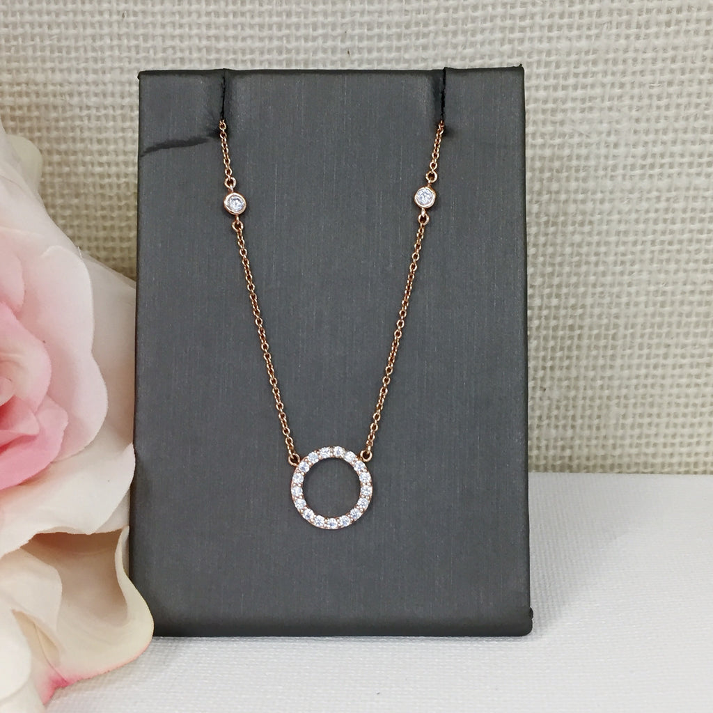 Rose Circle Necklace