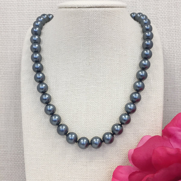Grace Blue Pearl Necklace