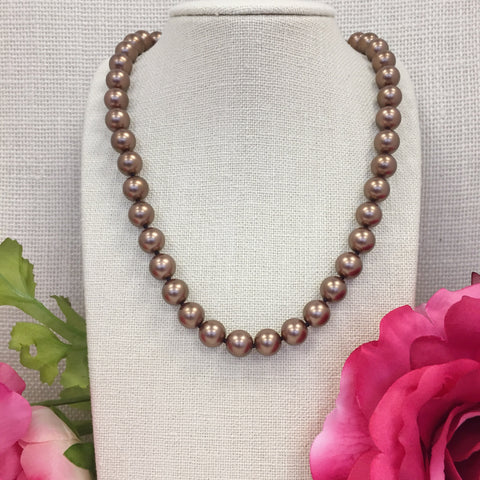Grace Brown Pearl Necklace