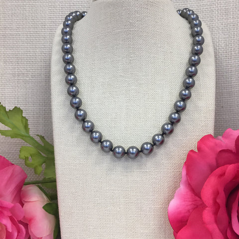 Grace Gray Pearl Necklace