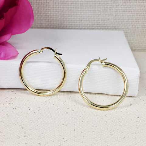Classic Gold Hoops