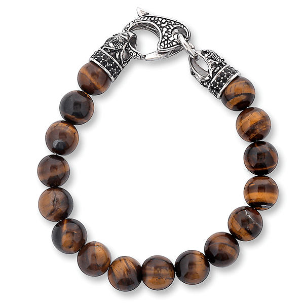 Tiger Eye Beaded Dragon Bracelet
