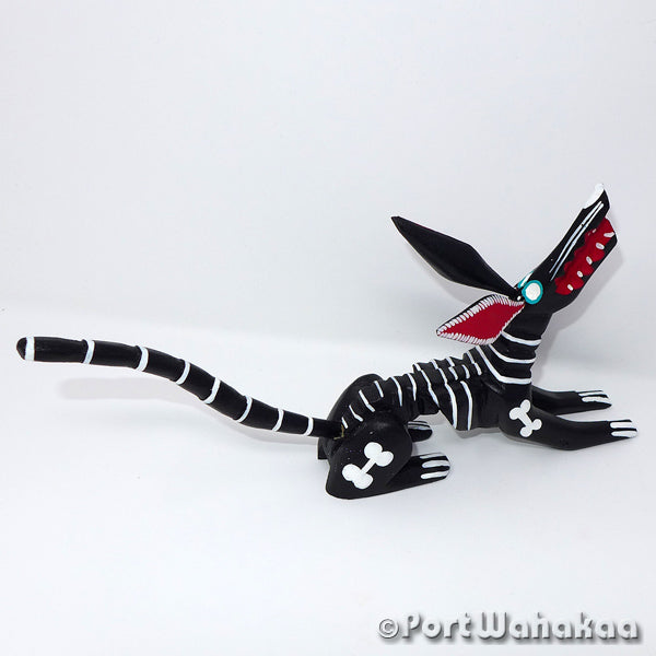 Boneyard Dog Oaxacan Carving Artist - Martin Xuana Port Wahakaa Carving Medium, Dog, Perro, San Martin Tilcajete, Skeleton