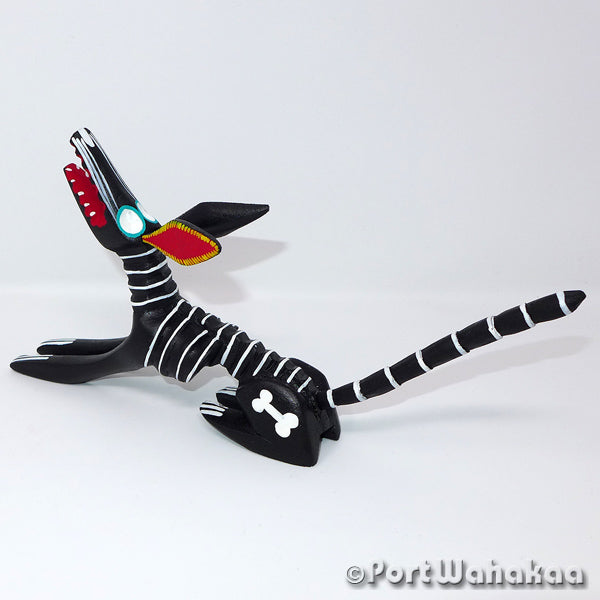 Dutiful Dead Dog Oaxacan Carving Artist - Martin Xuana Port Wahakaa Coyote, Day of the Dead, Dog, Perro, San Martin Tilcajete, Skeleton