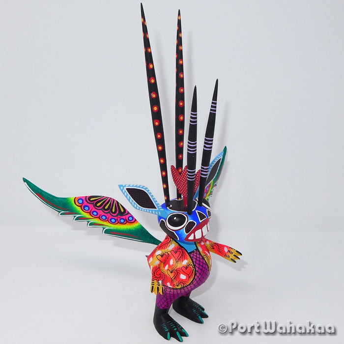 Kaleidoscopic Alebrije - Oaxaca Wood Carving Alebrijes Animal Mexican Copal