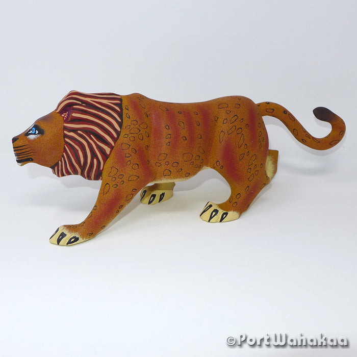 Lion Panthera Leo - Oaxaca Wood Carving Alebrijes Animal Mexican Copal