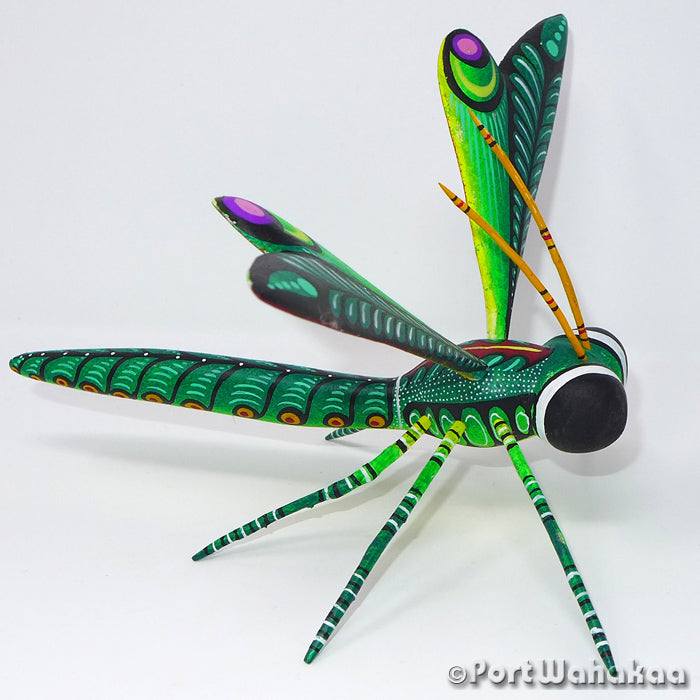 Nephrite Dragonfly Oaxacan Carving Artist - Rogelio Blas Port Wahakaa Carving Medium Large, Dragonfly, Insects, San Pedro Cajonos
