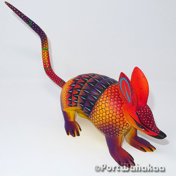 Desert Sunset Armadillo Oaxacan Carving Artist - Hilario Blas Port Wahakaa Armadillo, Carving Medium, San Pedro Cajonos