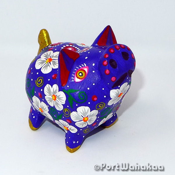 Orbit Blue Pig Oaxacan Carving Port Wahakaa Port Wahakaa Carving Small, Cerdo, Javelina, Oaxaca City, Pig, Warthog