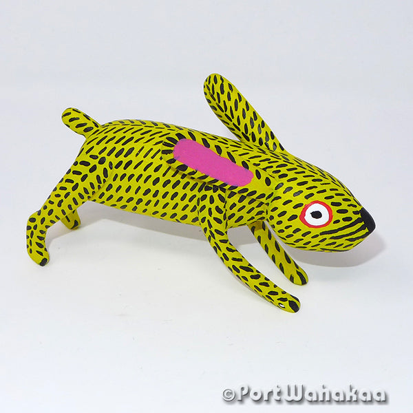 Daffodil Rabbit Oaxacan Carving Artist - Reynaldo Santiago Port Wahakaa Carving Small, conejos, La Union, Rabbit