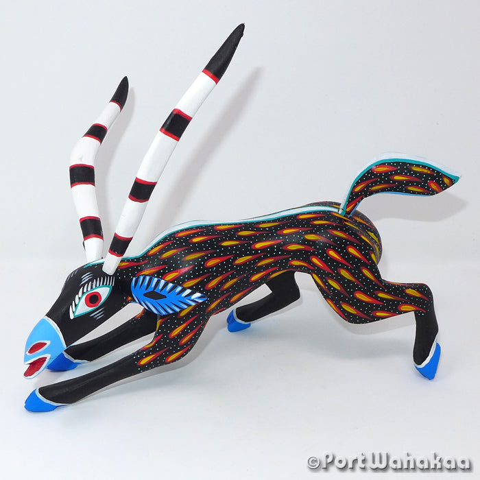 Fire Drop Gazelle Oaxacan Carving Artist - Antonio Carrillo Port Wahakaa Antelope, Arrazola, Carving Medium, Gazelle, Venado
