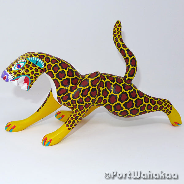 Mexican Jaguar Oaxacan Carving Artist - Antonio Carrillo Port Wahakaa Arrazola, Carving Medium, Jaguar, Leopard, Panthera