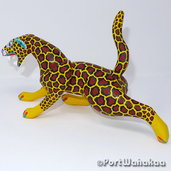 Mexican Jaguar Oaxacan Carving Artist - Antonio Carrillo Port Wahakaa Jaguar, Leopard, Panthera