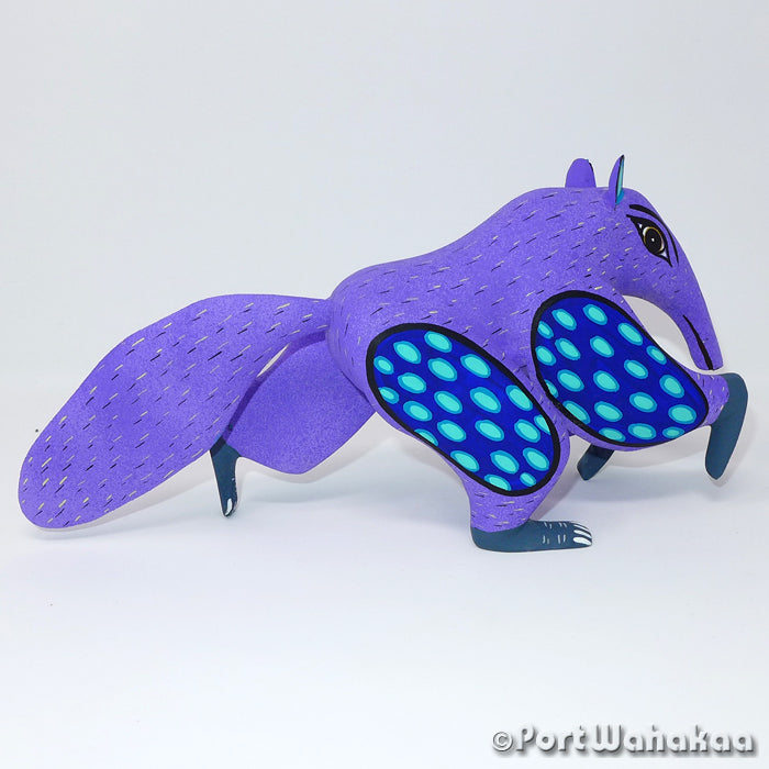 Expeditious Anteater Oaxacan Carving Artist - Angel Ramirez Port Wahakaa Anteater, Arrazola, Carving Medium Large, Oso Homiguero