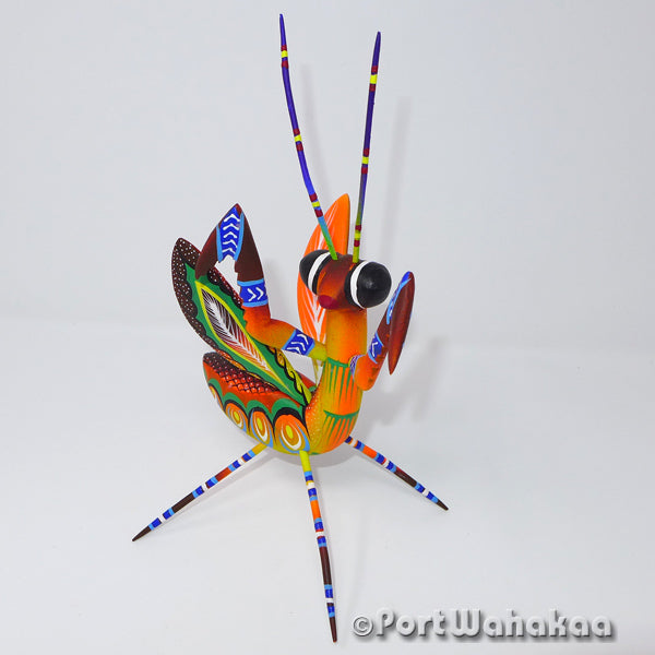 Torchlight Praying Mantis Oaxacan Carving Artist - Rogelio Blas Port Wahakaa Carving Medium, Insect, Mantis, Praying Mantis, San Pedro Cajonos