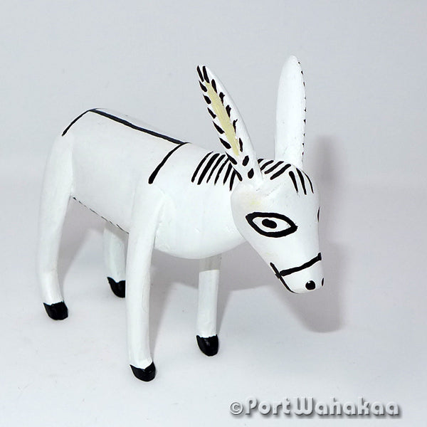 Blanco Burro - Oaxaca Wood Carving Alebrijes Animal Mexican Copal