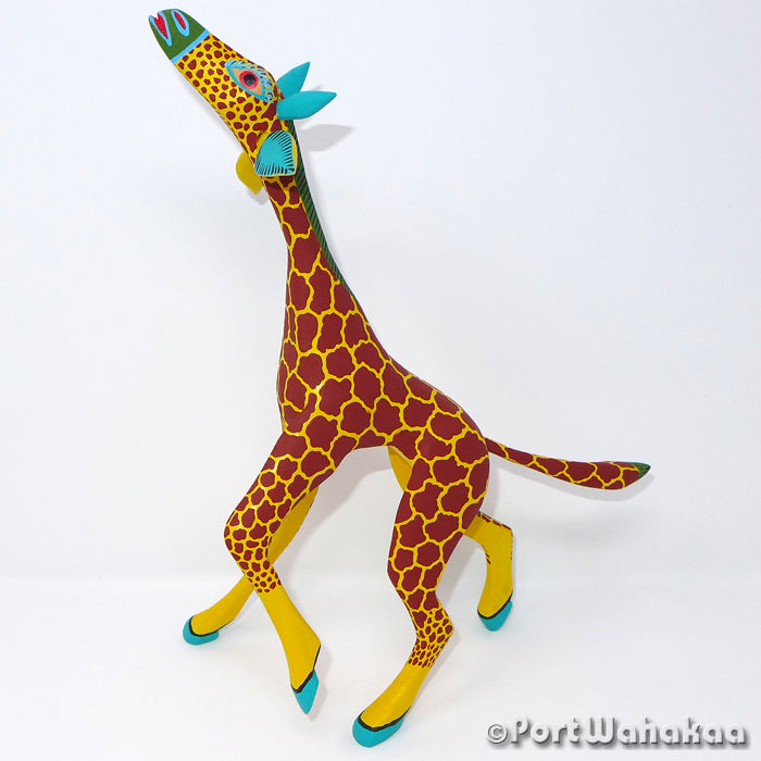 Giraffe Classic Oaxacan Carving Artist - Antonio Carrillo Port Wahakaa Arrazola, Carving Large, Giraffe, Jirafe