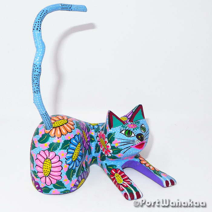 Dayflower Cat Oaxacan Carving Artist - Maria Jimenez Ojeda Port Wahakaa