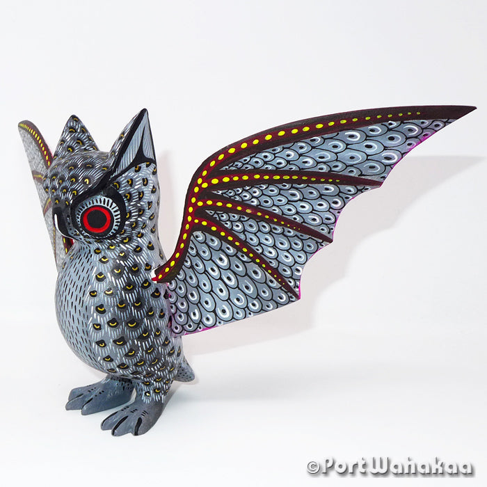 Cave Owl Oaxacan Carving Artist - David Blas Port Wahakaa Buho, Carving Medium Large, Owl, San Pedro Cajonos
