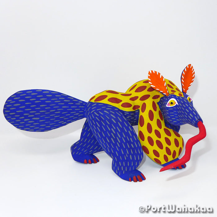 Superior Anteater Oaxacan Carving Artist - Moises Jimenez Port Wahakaa Anteater, Arrazola, Carving Giant, Oso Homiguero