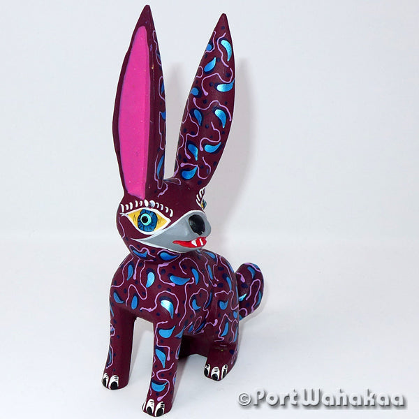 Tayberry Rabbit Oaxacan Carving Artist - Delfino Gutierrez Port Wahakaa Carving Small, Conejo, Rabbit, San Martin Tilcajete
