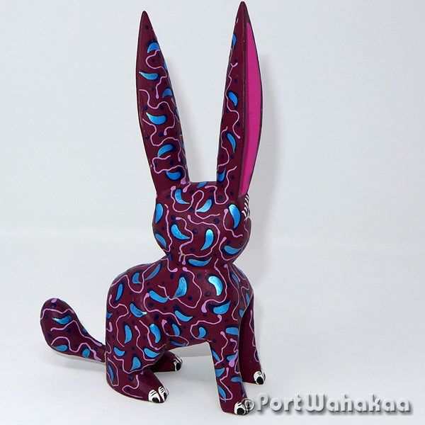 Tayberry Rabbit - Oaxaca Wood Carving Alebrijes Animal Mexican Copal