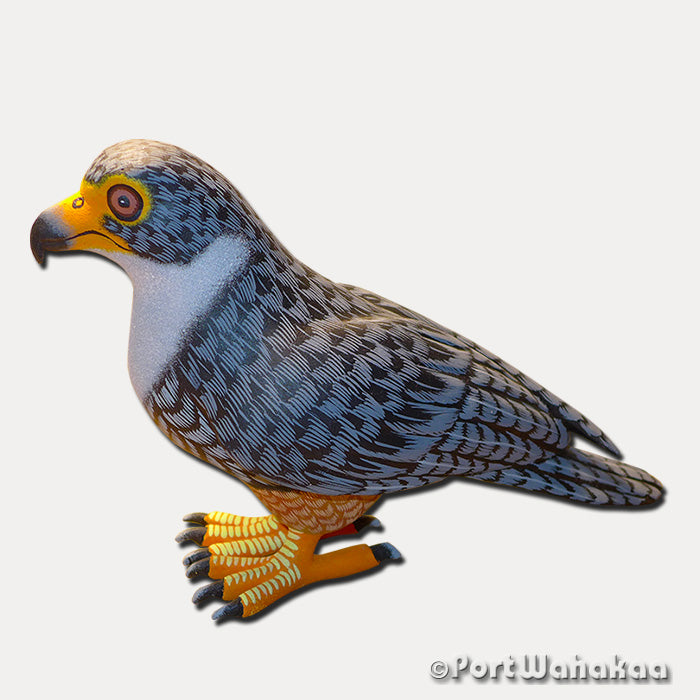 Peregrine Falcon Oaxacan Carving Artist - Eleazar Morales Port Wahakaa Arrazola, Avia, Carving Large, Eagle, Falcon, Halcon, Hawk