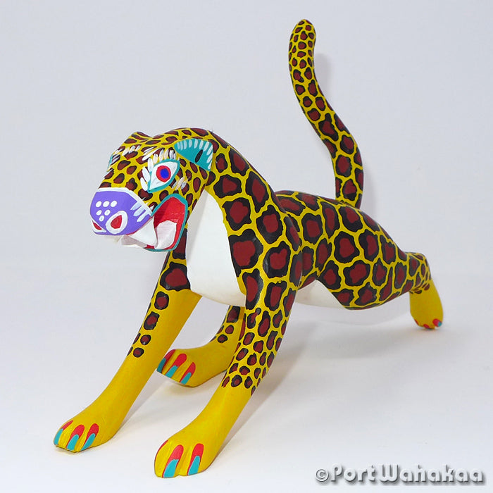 Mayan Jaguar Oaxacan Carving Artist - Antonio Carrillo Port Wahakaa Arrazola, Carving Medium, Cheetah, Gato, Jaguar, Panthera