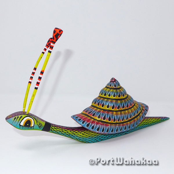 Prismatic Tinted Snail - Oaxaca Wood Carving Alebrijes Animal Mexican Copal