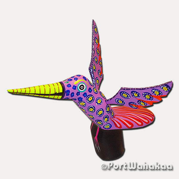 Rose Hummingbird Artist - Zeny Fuentes Port Wahakaa Oaxacan Carving Mexico Folk Art